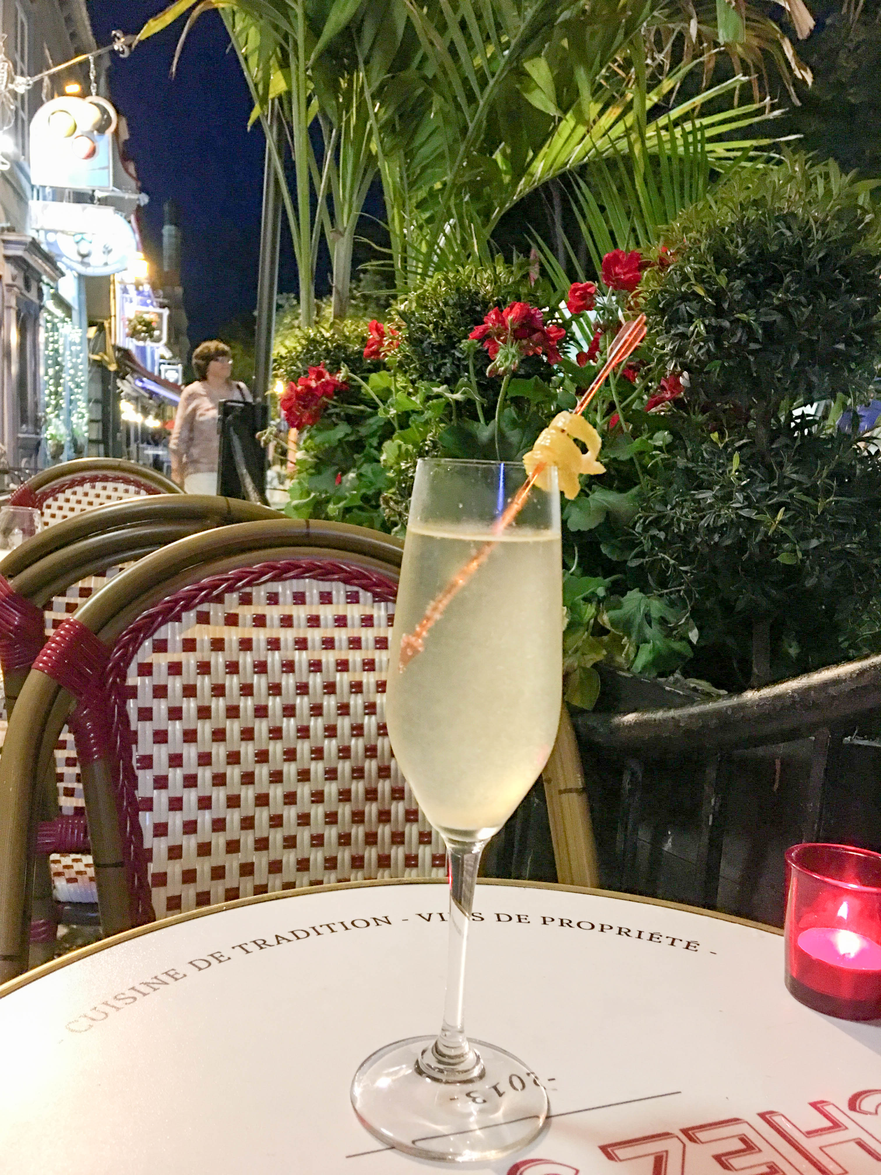 Delightful French 75 in Quebec City